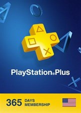 "Playstation Plus 1 Year Subscription ""US"""