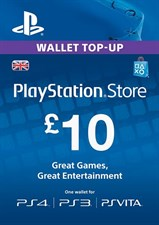PLAYSTATION NETWORK CARD - £10 (PS VITA/PS3/PS4)